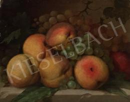 Ismeretlen magyar festő, 1950 körül - Gyümölcsös csendélet