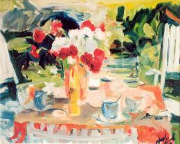 Jeckel Ferenc - Reggeli csendélet, 1988