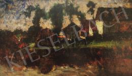 Koszta József - Magyar tanyaudvar, 1920