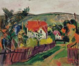 Márffy Ödön - Pirostetős ház (Falu), 1910