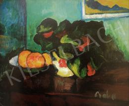 Perlrott Csaba Vilmos - Csendélet naranccsal, korai 1910-es évek