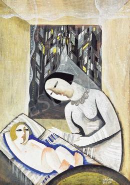 Kádár Béla - Városi Madonna (Anya gyerekével), korai 1920-as évek