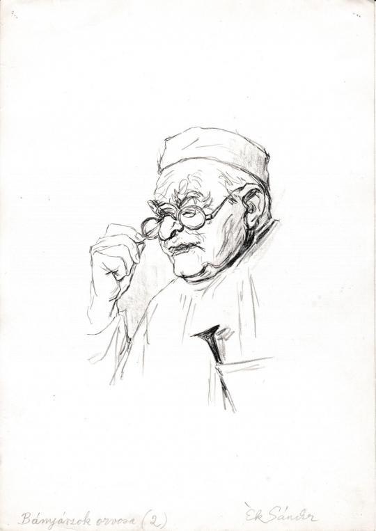 Eladó  Ék Sándor - Bányászok orvosa festménye