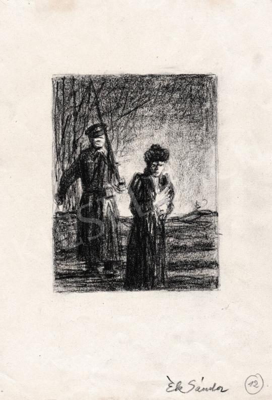 Eladó  Ék Sándor - Búcsúzás festménye