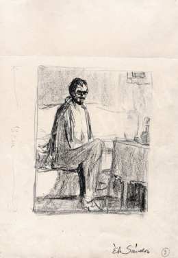 Ék Sándor - Kanapén ülő férfi
