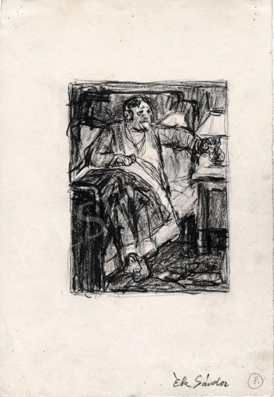 Eladó  Ék Sándor - Lefekvés előtt festménye