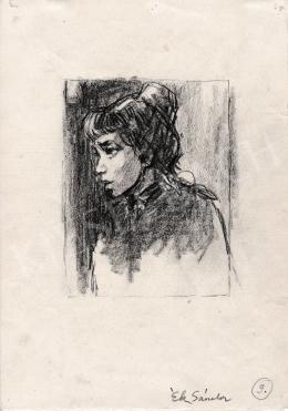 Ék Sándor - Fiatal lány portréja