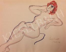 Perlrott Csaba, Vilmos - Lying Female Nude