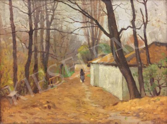 Eladó  Gábor Jenő - A pécsi Balokány uszoda, 1914 festménye
