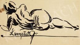 Nemes Lampérth József - Fekvő hátakt, 1910 körül