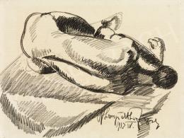 Nemes Lampérth József - Háttal fekvő akt, 1912