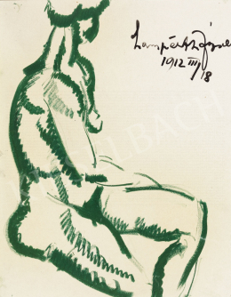 Nemes Lampérth József - Ülő női akt, 1912