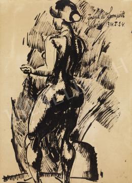 Nemes Lampérth József - Álló női akt, 1914