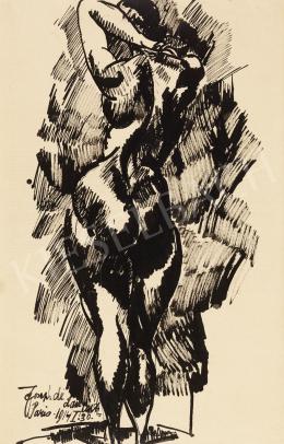 Nemes Lampérth József - Női hátakt, 1914