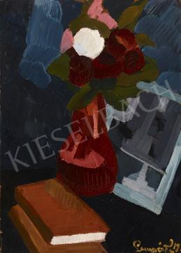 Nemes Lampérth József - Virágcsendélet könyvekkel, 1916