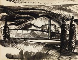 Nemes Lampérth József - Városrészlet, 1917
