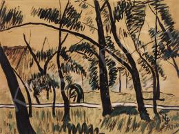 Nemes Lampérth József - Tájkép fákkal, 1912