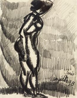 Nemes Lampérth József - Álló akt, 1913