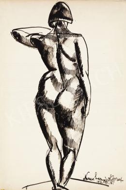Nemes Lampérth József - Háttal álló női akt, 1916
