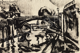 Nemes Lampérth József - Szajna-híd (Pont-Neuf), 1913