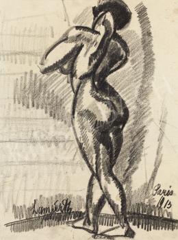 Nemes Lampérth József - Női akt tanulmány, 1913