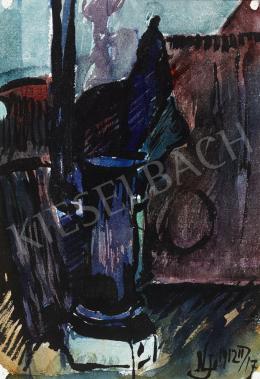 Nemes Lampérth József - Szobabelső kályhával, 1912