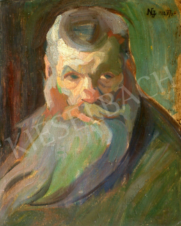 Nemes Lampérth József - Szakállas férfi, 1912