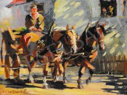 Kieselbach Géza - Lovaskocsi (Falu végén), 1930-1940