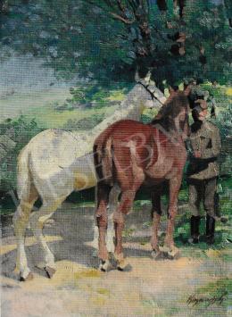 Kieselbach Géza - Katona lovakkal, 1920-1930
