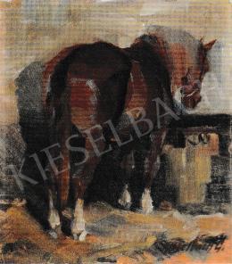 Kieselbach Géza - A pajtában, 1959