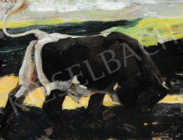 Kieselbach Géza - Támadó bika, 1931