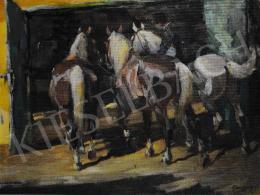 Kieselbach Géza - Lovak a Centrál Cirkuszban, 1955