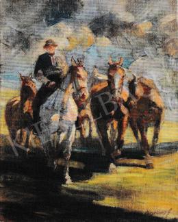 Kieselbach Géza - Lovaglás, 1930