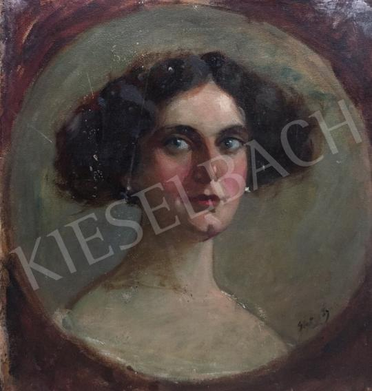 For sale  Glatter, Gyula - Female Portrait 's painting