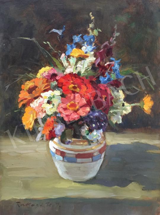 Rákosi Uitz János - Virágcsendélet festménye