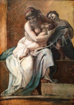 Lotz Károly - Anya gyermekével