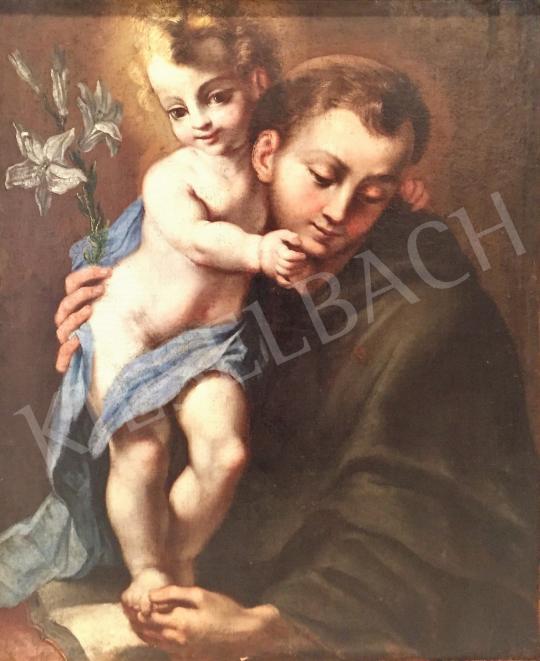 Eladó Ismeretlen festő - Szent Antal és angyal festménye