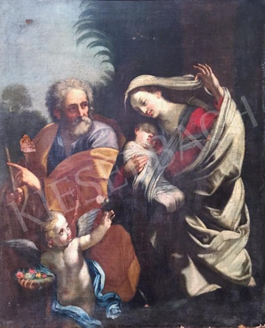 Eladó  XVIII. századi ismeretlen festő - Szent család festménye