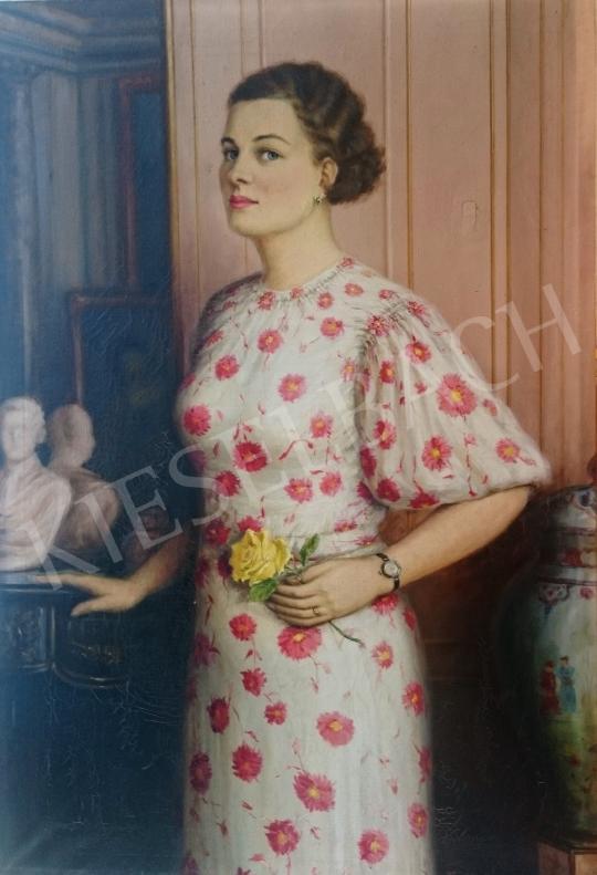 Eladó  Tóth Ferenc - A művész felesége, 1937 festménye