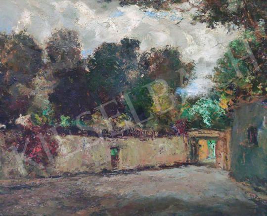 Eladó  Magyar Mannheimer Gusztáv - Belső udvar festménye