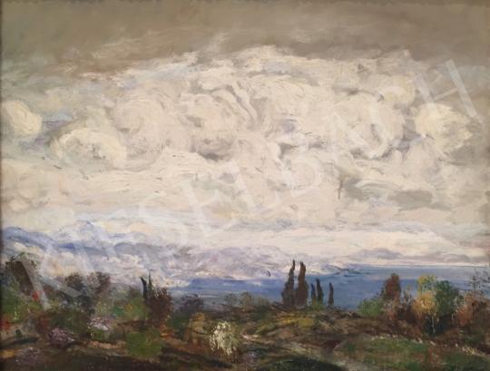 Eladó  Magyar Mannheimer Gusztáv - Gomolygó felhők festménye