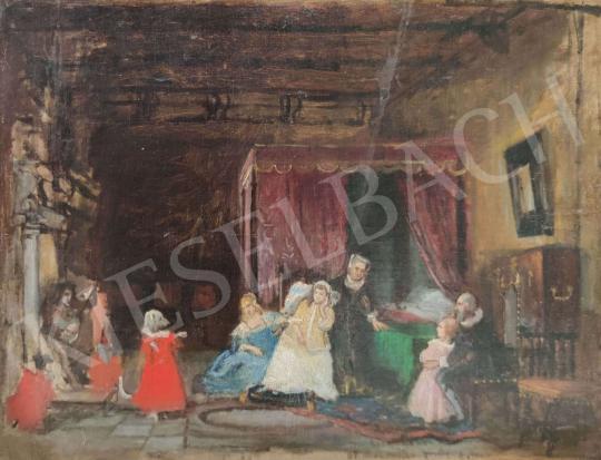 Eladó Ismeretlen festő - Jelenet festménye