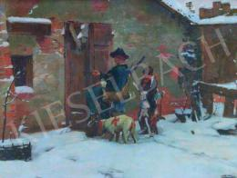 Unknown Austrian painter - Winter Landscape