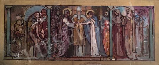 Stein János Gábor - Áldás kérése  festménye