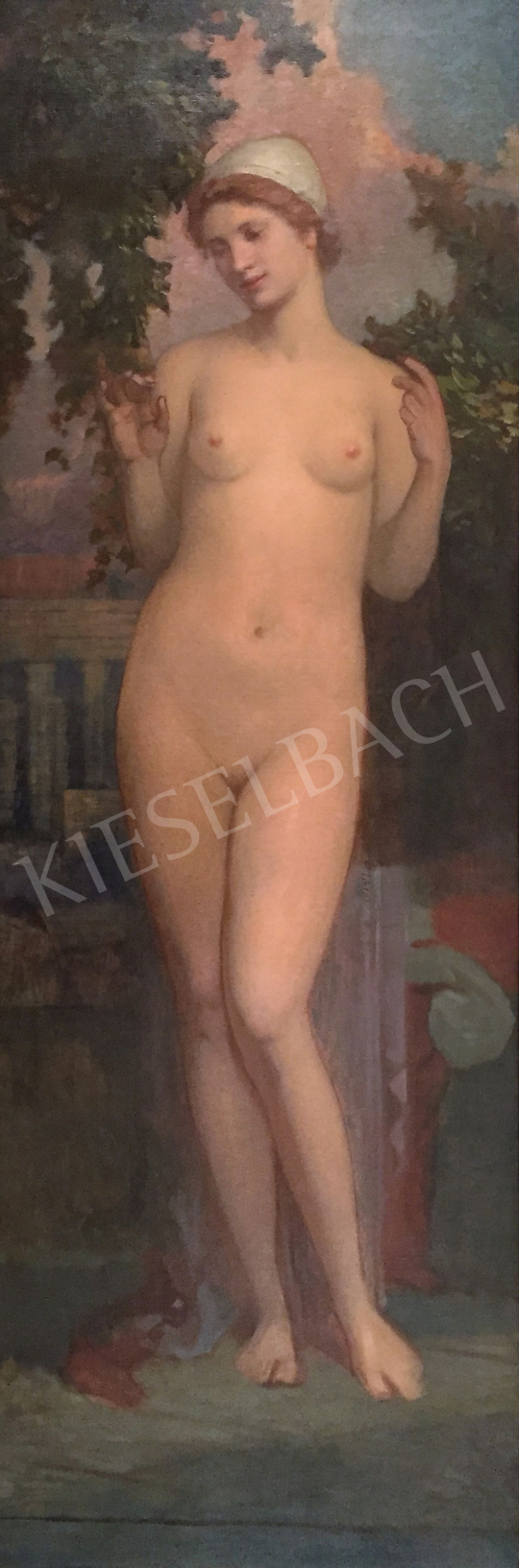 Stein, János Gábor - Young Female Nude on the Terrace of the Palace painting