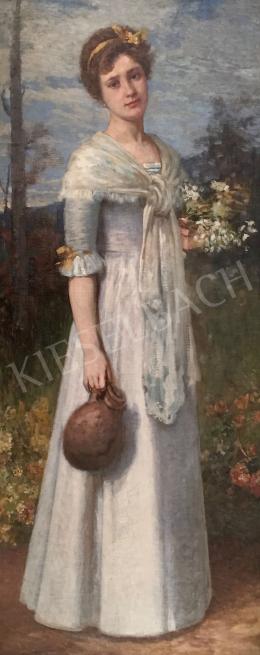 Stein János Gábor - Kékszemű fiatal lány (A tavasz allegóriája)