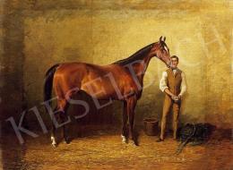 Ismeretlen festő, 19. század vége - A versenyló