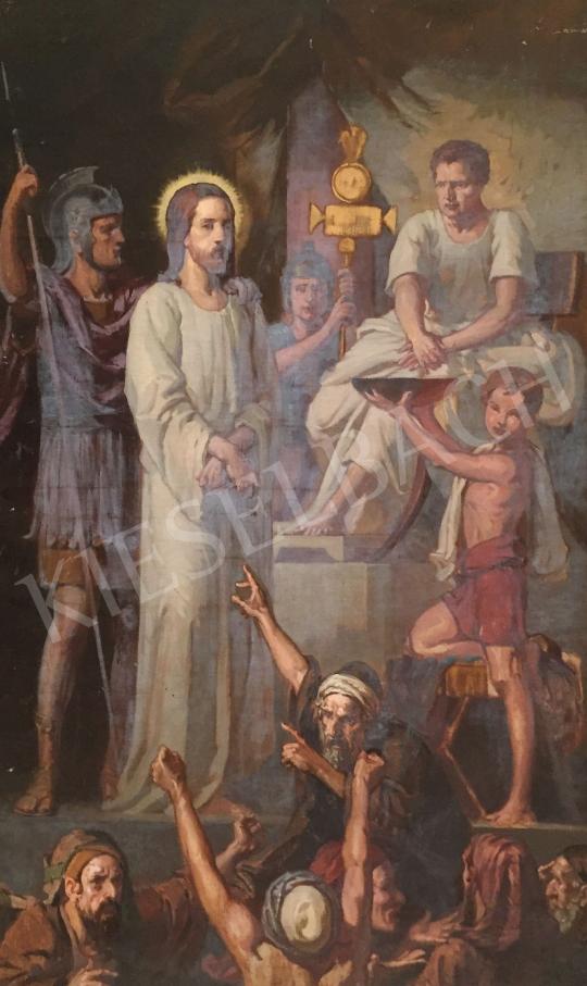 Stein János Gábor - Krisztus Pilátus előtt festménye