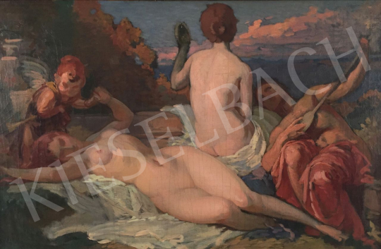 Stein, János Gábor - Nymphs on the Beach (The Sounds of Music) painting