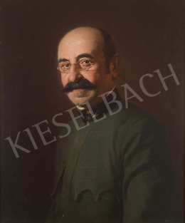 Stein János Gábor - Szemüveges férfi portréja